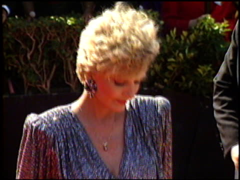 florence henderson at the 1989 emmy awards outside at the pasadena civic auditorium in pasadena california on september 17 1989 - awards ceremony stock videos & royalty-free footage