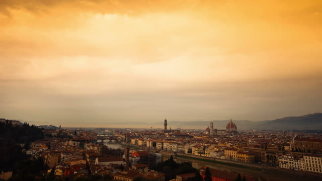 florence skyline timelapse - florence stock videos and b-roll footage