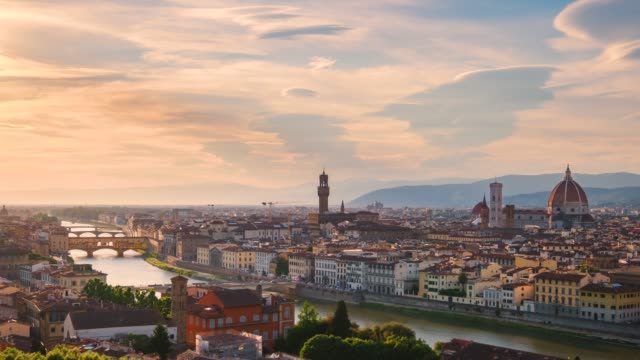florence time lapse panorama from piazzale michelangelo - mediterranean culture stock videos & royalty-free footage