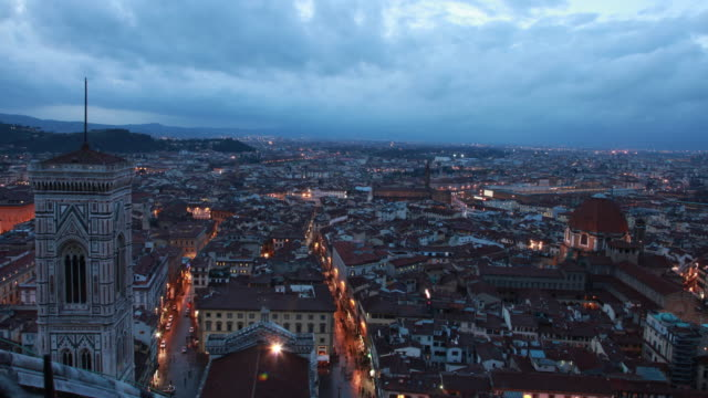 florence view from cathedral of santa maria del fiore / florence, italy - street name sign stock videos & royalty-free footage