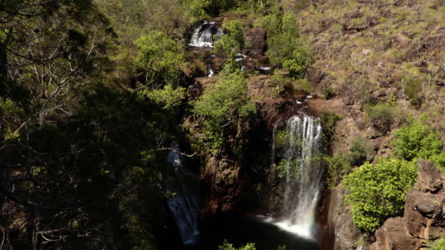 florence waterfalls at litchfield national park - steve munro stock videos & royalty-free footage