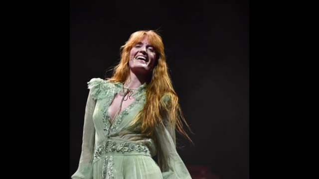 Florence Welch of Florence the Machine performs on Downtown Stage during the 2018 Life Is Beautiful Festival on September 22 2018 in Las Vegas Nevada
