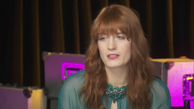 florence welch, of the band florence and the machine, talks about voicing concerns for women while backstage at the chime for change benefit concert... - human rights or social issues or immigration or employment and labor or protest or riot or lgbtqi rights or women's rights stock videos & royalty-free footage