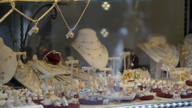 florentine jewelry / florence, italy - window display stock videos and b-roll footage