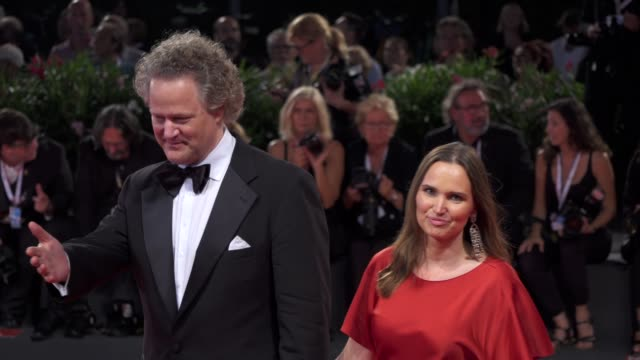 florian henckel von donnersmarck and christiane henckel von donnersmarck arrive on the red carpet of 'werk ohne autor' [never look away] during the... - film festival stock videos & royalty-free footage