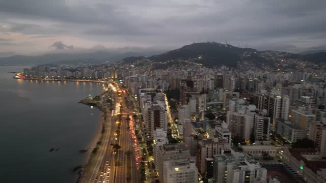 florianópolis city skyline in the late afternoon and early evening. - mar stock videos & royalty-free footage