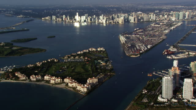 USA, Florida: Aerial view of Miami
