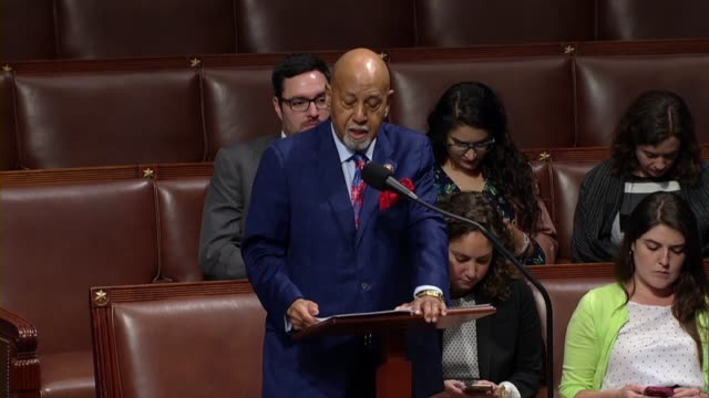 vídeos de stock, filmes e b-roll de florida congressman alcee hastings says in debate on a rule to put offshore drilling prohibition legislation on the floor that as a floridian he had... - florida us state