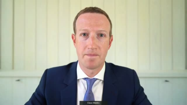 florida congressman greg steube asks facebook ceo mark zuckerberg by videoconference at a house judiciary antitrust subcommittee hearing if facebook... - asking stock videos & royalty-free footage