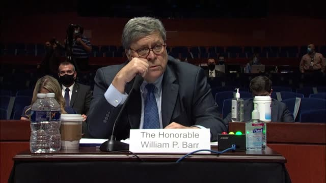stockvideo's en b-roll-footage met florida congresswoman debbie mucarsel powell tells attorney general bill barr at a house judiciary committee oversight hearing that when constituents... - political action committee