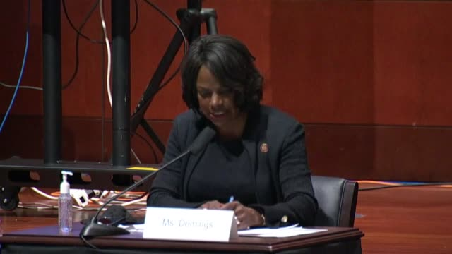 florida congresswoman val demings asks attorney general bill barr at a house judiciary committee hearing about the release of michael cohen from... - attorney general stock videos & royalty-free footage