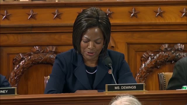 florida congresswoman val demings confirms testimony by lieutenant colonel alexander vindman at the third impeachment inquiry hearing of the house... - court hearing stock videos & royalty-free footage