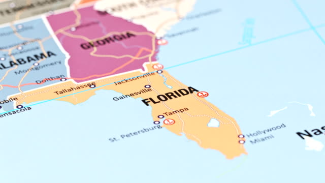 florida from usa states - stati del mid atlantic usa video stock e b–roll