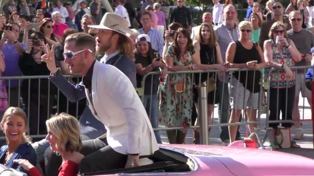 florida georgia line arriving to the 52nd academy of country music awards in celebrity sightings in las vegas - academy of country music awards stock videos & royalty-free footage