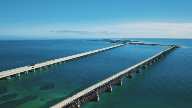 florida keys from drone point of view - the florida keys stock videos & royalty-free footage