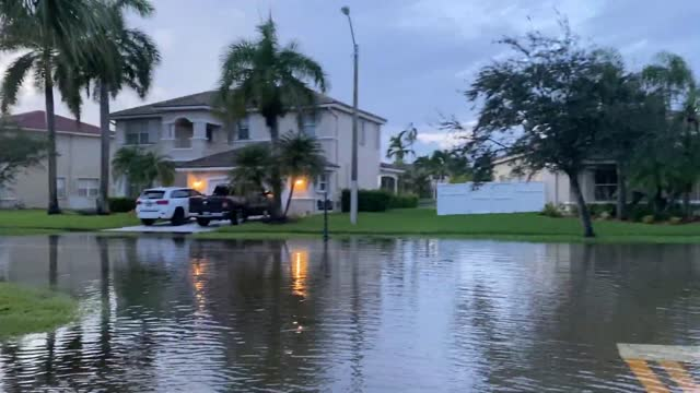 stockvideo's en b-roll-footage met florida man discovered a new fishing spot in pembroke pines on monday, november 9, after tropical storm eta brought treacherous flooding to the area... - pembroke
