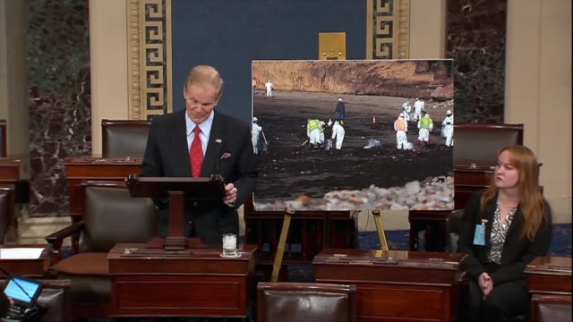 Florida Senator Bill Nelson marks the somber occasion of eight years since the new stickers indicating that an oil rig in the Gulf of Mexico was on...
