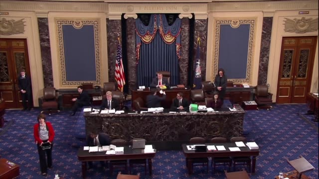 Florida Senator Bill Nelson pauses the Senate to observe a moment of silence after 17 were killed in a mass shooting at the Marjory Stoneman High...