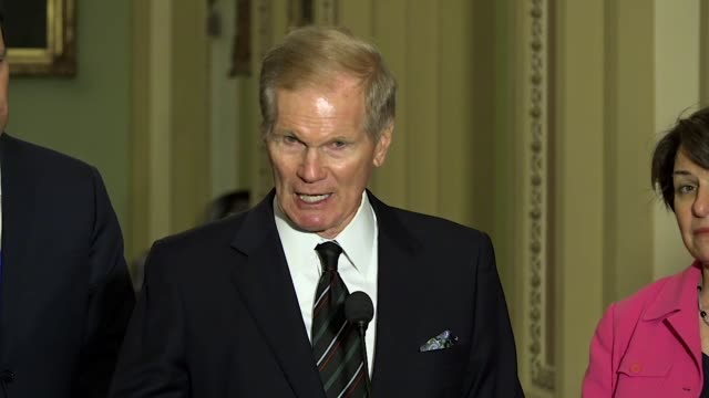 florida senator bill nelson tells reporters after a mass shooting at marjory stoneman high school in parkland to look at separate incidents including... - senator stock videos & royalty-free footage