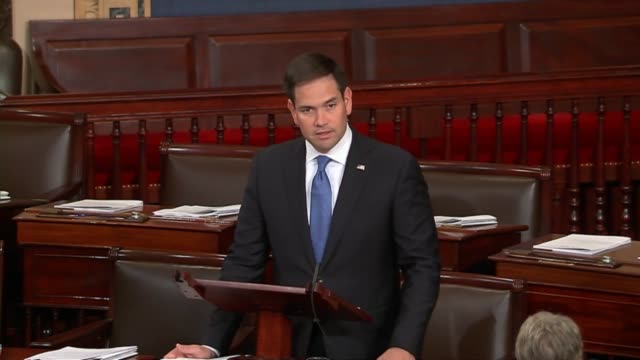 Florida Senator Marco Rubio briefly remarks on the recovery of the data recorder from the lost ship El Faro before proceeding with a statement about...