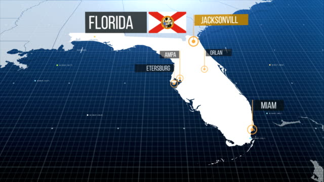 florida state map with label then with out label - florida us state stock videos & royalty-free footage