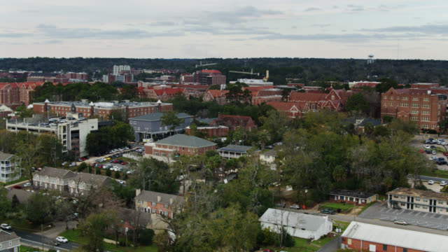 florida state university, tallahassee - aerial - florida us state stock videos & royalty-free footage