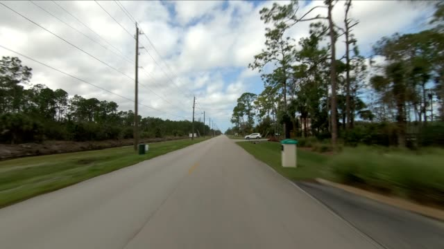 florida suburb iii synced series front view driving process plate - naples florida stock videos & royalty-free footage