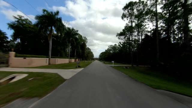 florida suburb viii synced series rear view driving process plate - naples florida stock videos & royalty-free footage