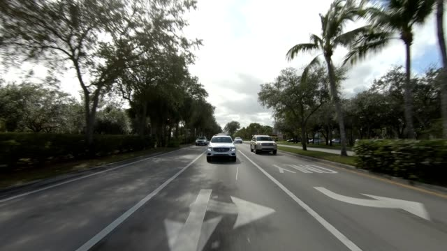 florida suburb xi synced series rear view driving process plate - naples florida stock videos & royalty-free footage