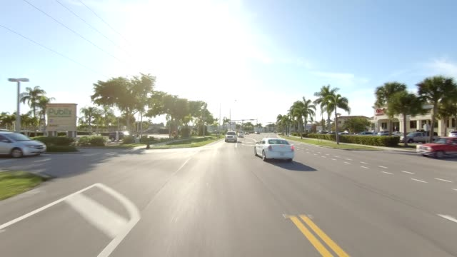 florida xiii synched series rear view driving process plate - driving plate stock videos & royalty-free footage