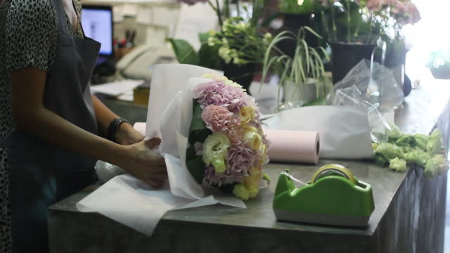 florists - florist stock videos and b-roll footage