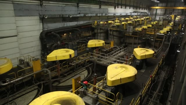flotation machines at the talnakh concentrator plant operated by mmc norilsk nickel pjsc in norilsk russia on wednesday oct 18 photographer andrey... - nickel stock videos & royalty-free footage