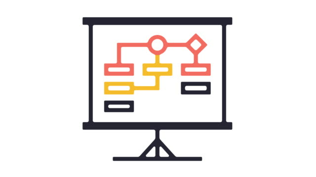 flowchart icon animation - animation moving image stock videos & royalty-free footage