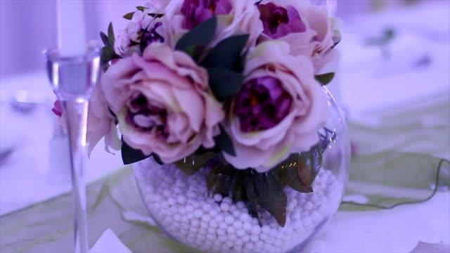 flower arrangement - flower arrangement stock videos & royalty-free footage