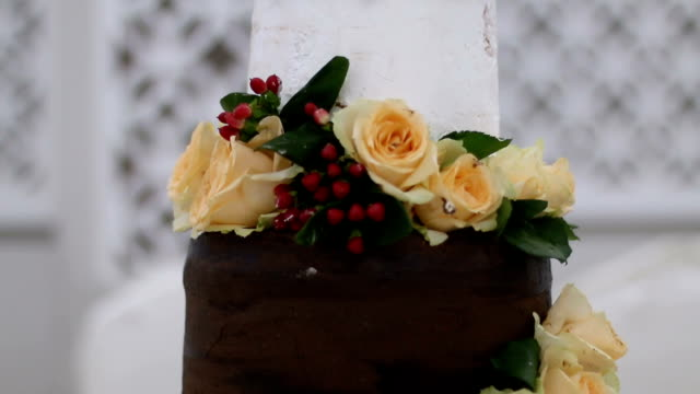 flower cake - food styling stock videos & royalty-free footage