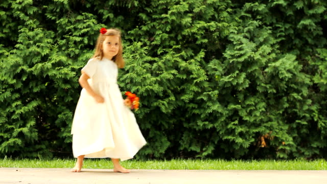 flower girl dances - innocence stock videos and b-roll footage