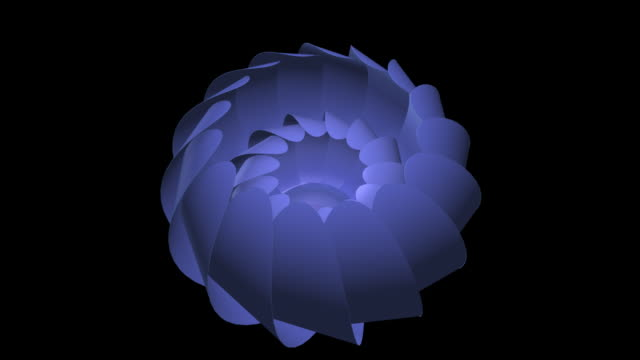 flower opening with alpha channel - 3d animation stock videos & royalty-free footage