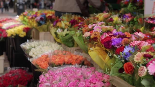 Flower Stall on New Street, Birmingham, West Midlands, England, United Kingdom, Europe