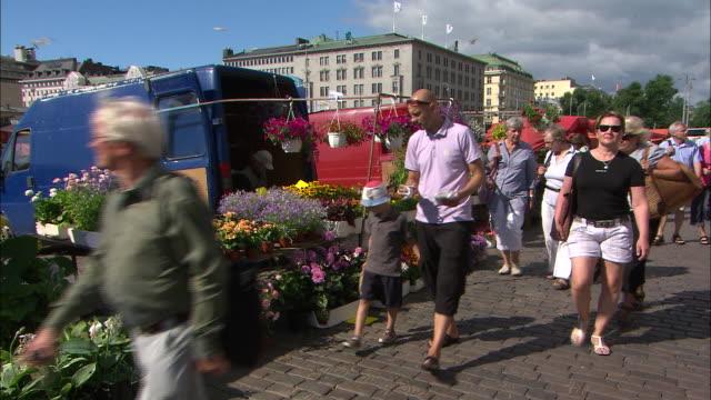 Flower Stalls, Helsinki, Finland