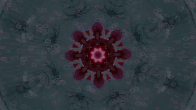 flower swirls #3 - mandala stock videos & royalty-free footage