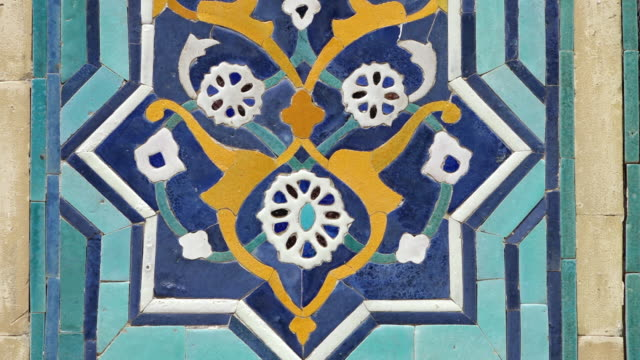 flower tile design - tile stock videos & royalty-free footage
