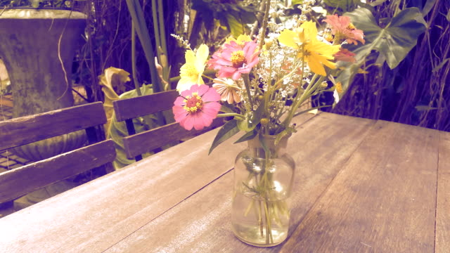 flower vases in the garden - bouquet stock videos & royalty-free footage