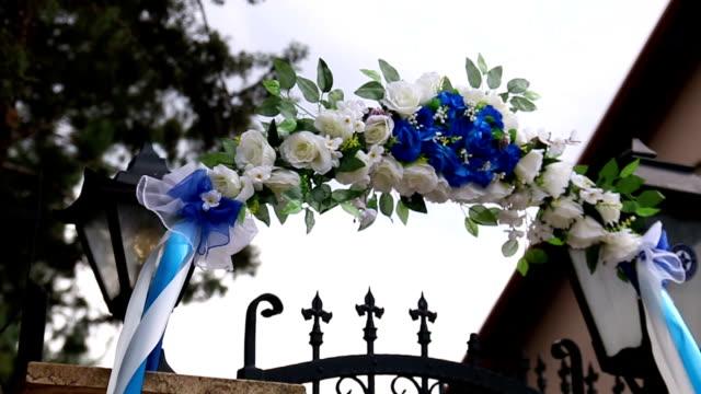 Flower wedding composition