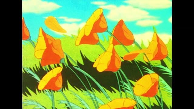 vídeos y material grabado en eventos de stock de flowers and butterflies enjoy a warming sun as springtime takes hold - flor