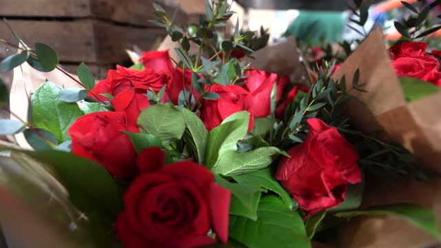 flowers are seen at new covent garden market early in the morning on february 11, 2021 in london, england. new covent garden market is the largest... - retail occupation stock videos & royalty-free footage