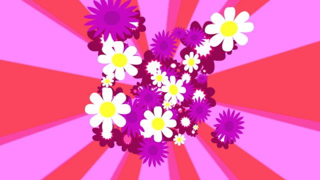 flowers background loop - abundance stock videos & royalty-free footage