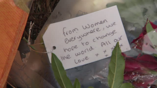 flowers, floral tributes, at site of woodlands in ashford, kent, where the body of sarah ashford was found, wayne couzens, a metropolitan police... - tree area stock videos & royalty-free footage