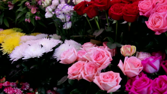 Flowers on display for sale at the market