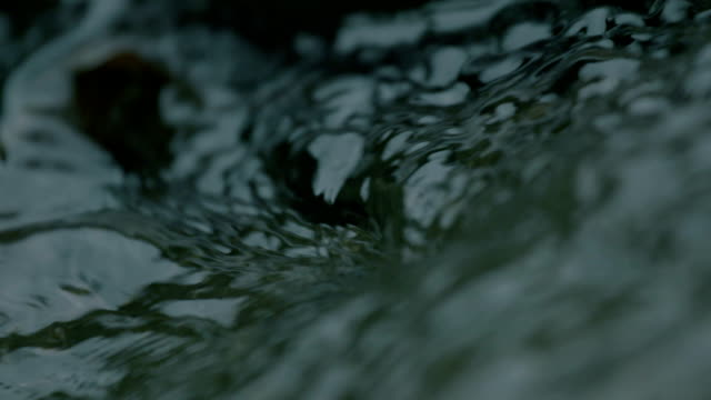 flowing clear water - ruscello video stock e b–roll