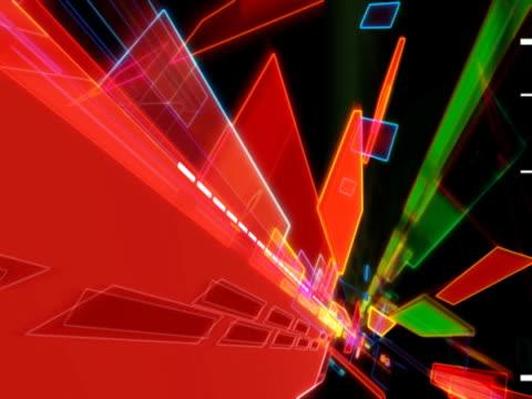 vídeos de stock e filmes b-roll de flowing geometric shapes - multimédia